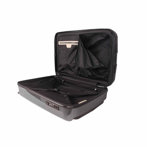Hontus CASO DUO 20 Inches Hardside Spinner Carry-On Luggage Glossy Gun Metal