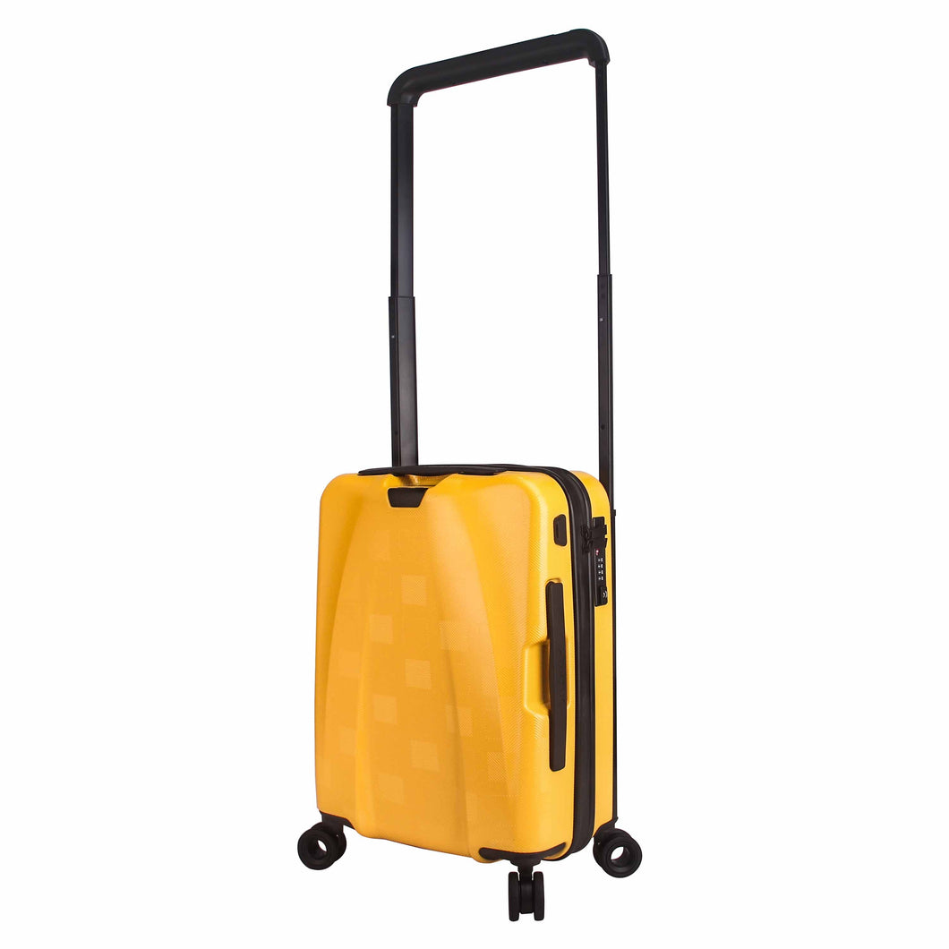 Hontus CASO QUATTRO 20 Inches Hardside Spinner Carry-On Luggage Plaid Yellow