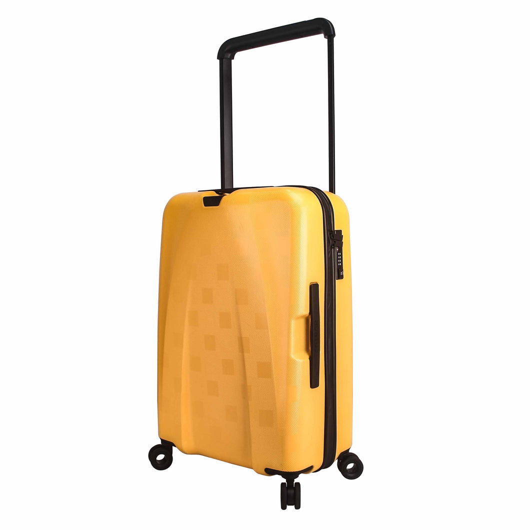 Hontus CASO QUATTRO 24 Inches Hardside Spinner Luggage Plaid Yellow