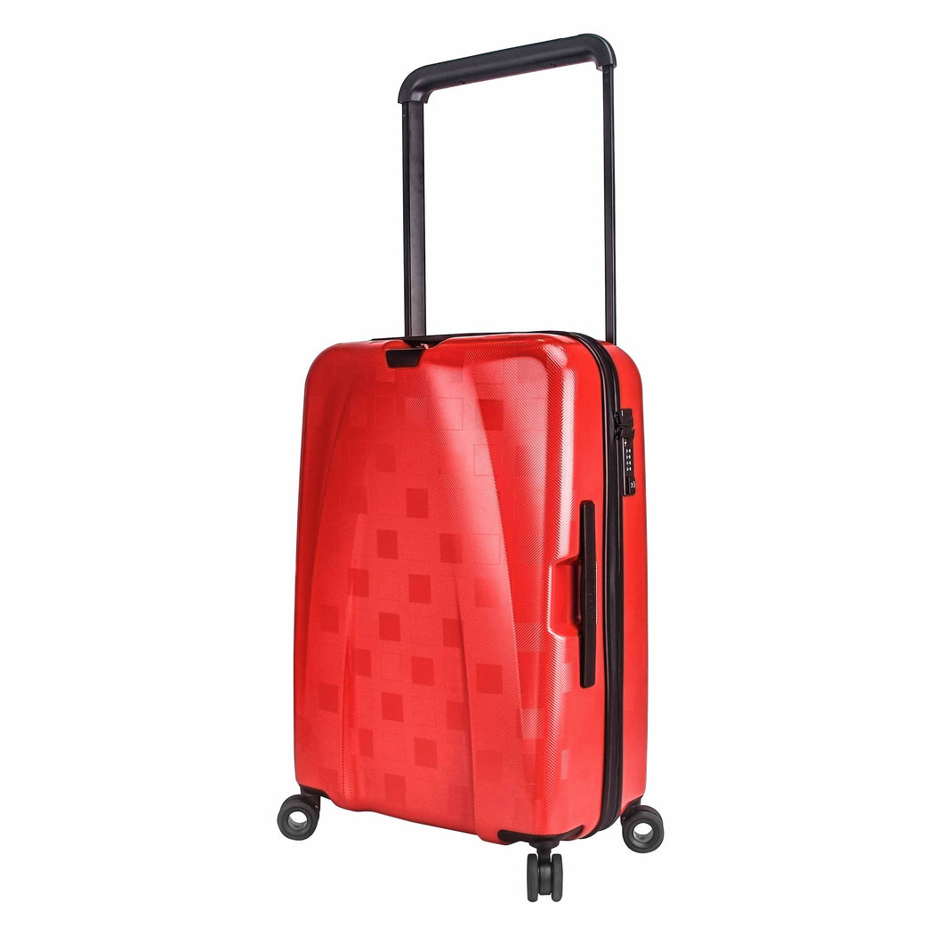 Hontus CASO QUATTRO 24 Inches Hardside Spinner Luggage Plaid Red