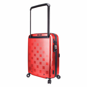 Hontus CASO QUATTRO 20 Inches Hardside Spinner Carry-On Luggage Plaid Red