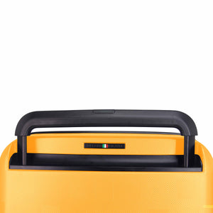 Hontus CASO QUATTRO 28 Inches Hardside Spinner Luggage Plaid Yellow