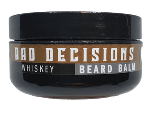 BAD DECISIONS 2OZ BEARD BALM                   Whiskey Bourbon - Patriot Mens Company