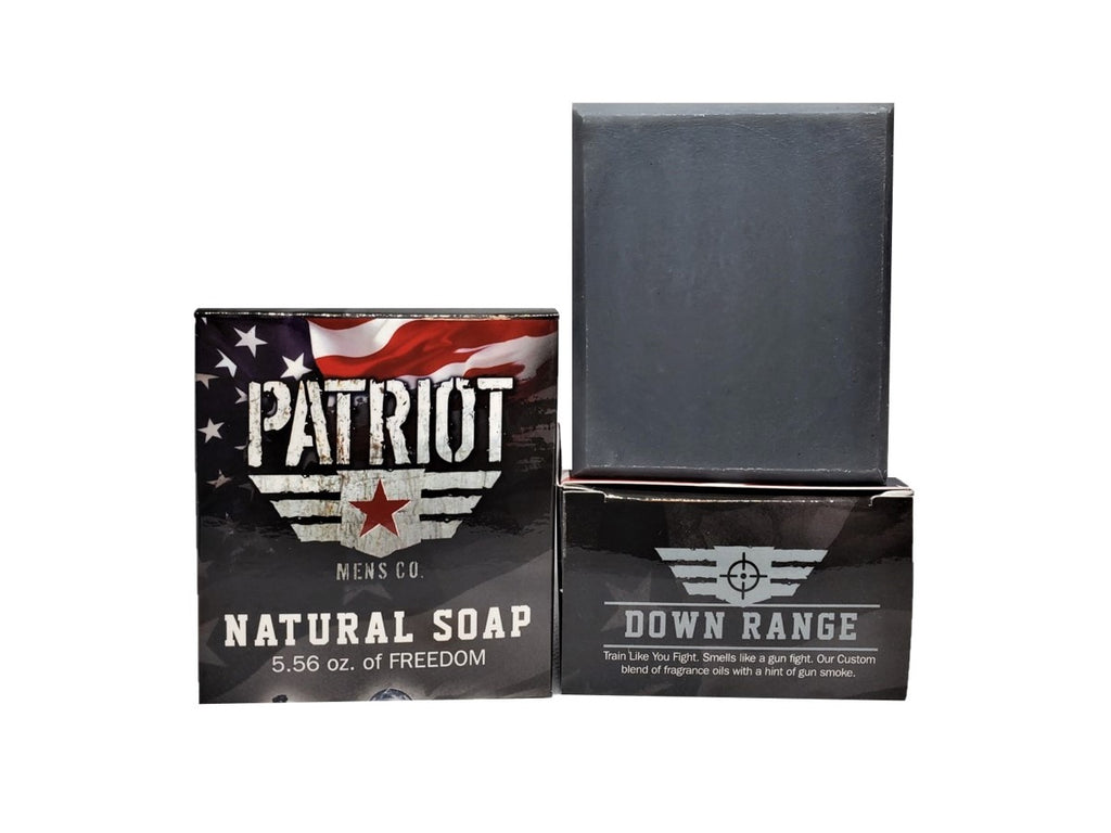 Down Range Natural Mens Soap Gun Powder - Patriot Mens Company