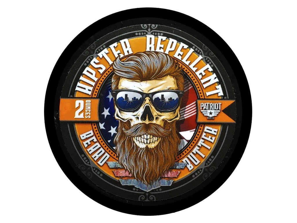 HIPSTER REPELLENT BEARD BUTTER 2OZ LIGHT HOLD/BEARD MOISTURIZER - Patriot Mens Company