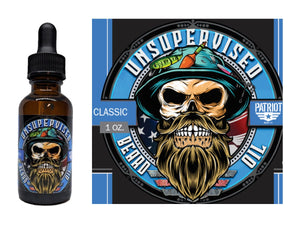 Unsupervised 1oz Natural Beard Oil Classic - Patriot Mens Company