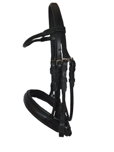 HALF ROLLED DOUBLE BRIDLE