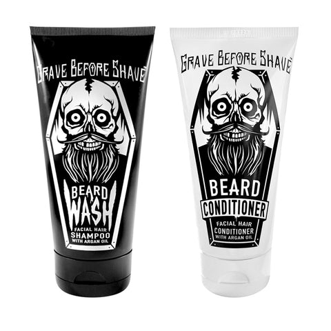 Kit Shampoo y Acondicionador para barba Grave Before Shave