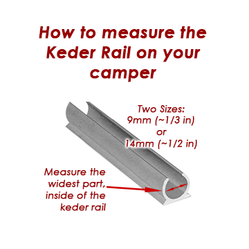 Keder Rail Inside Diameter