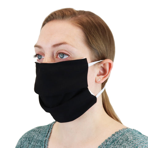 Personal Protective Face Mask.  Save On 1, 5, and 10 Packs of Black Masks Now!