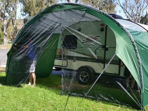 T@B Trailer Awning Mesh Front Wall Accessory