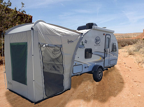 Outlet 269 R-Pod Trailer Rear Tent - silver/green trim