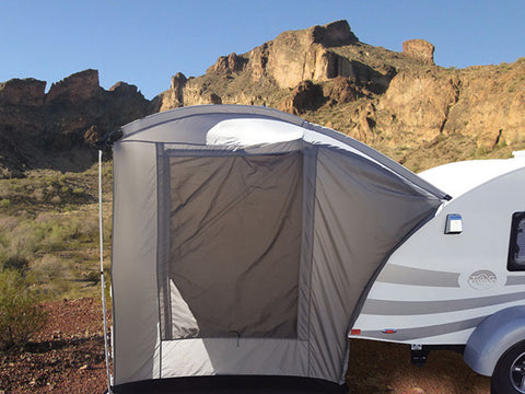 Outlet 258 Clamshell Tent for T@B Trailers - silver/black trim
