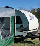 Outlet 271 R-Pod Trailer Side Tent - silver/green trim