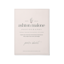 Load image into Gallery viewer, Price Sheet - Ashton Malone Collection
