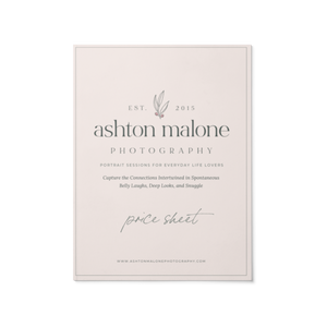 Price Sheet - Ashton Malone Collection