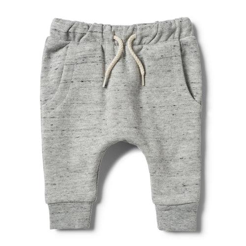 Grey Fleck Terry Slouch Pants