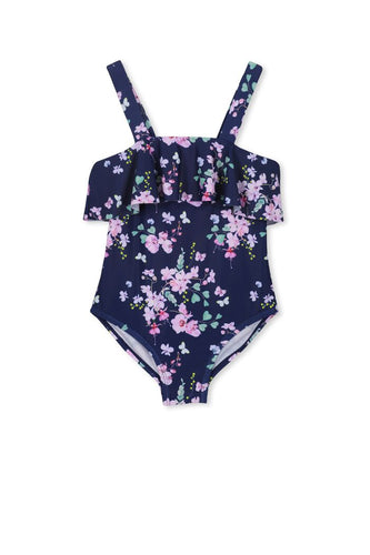 Floral Frill Swimsuit Girls