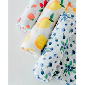 3 Pack Cotton Swaddle Berry Lemonade