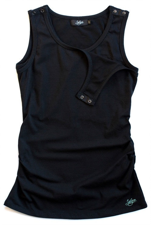 Black Clipdown Breastfeeding Tank