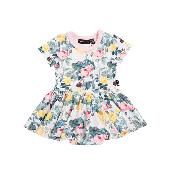 A Rose is a rose SS Waisted Dress