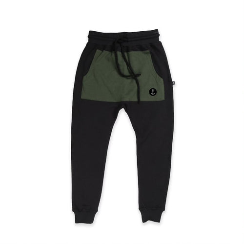 Pocket Trackie - Black/ Khaki