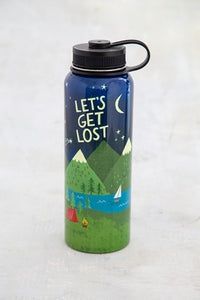 Let's get lost Large waterbottle