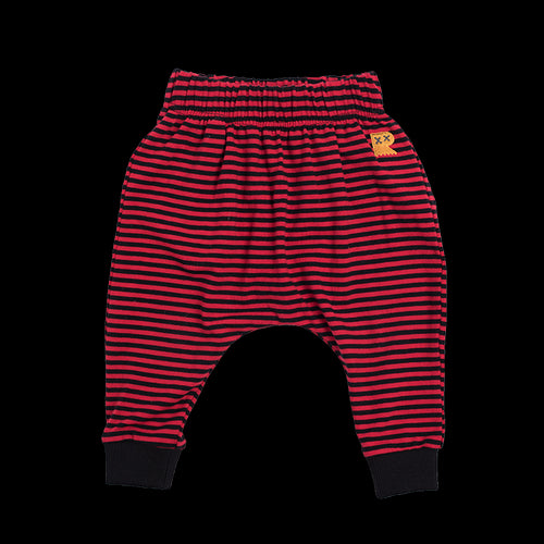 Red and Black Stripe Pants