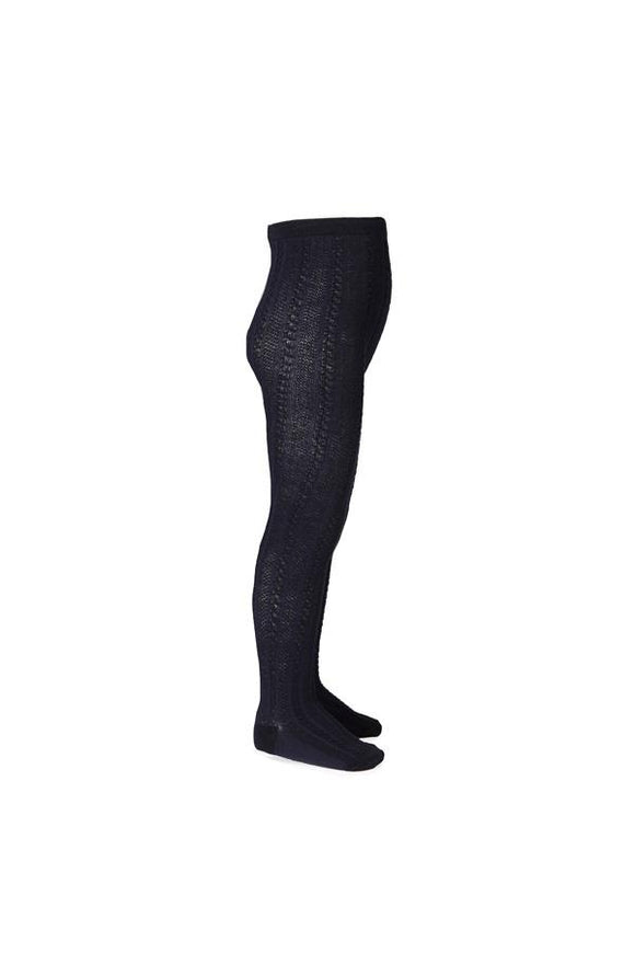 Jacquard Tights Navy Baby