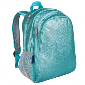 Blue Glitter Backpack 15 Inch