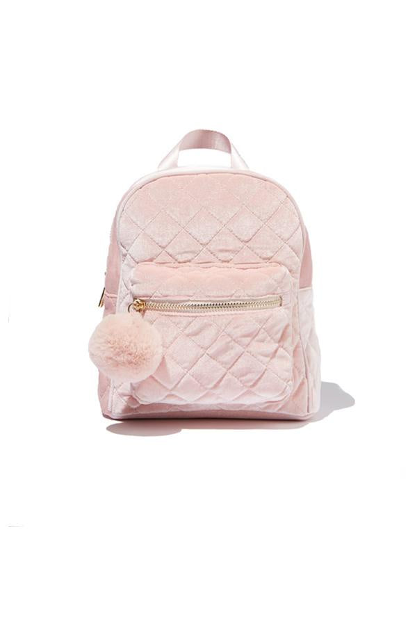 Quilted Backpack Pink