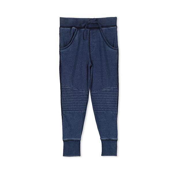 Denim Zip Track Pant