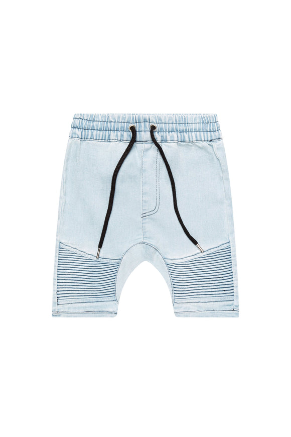 Blue Denim Biker Shorts 2