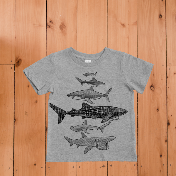 Sharks Tee Grey Marle