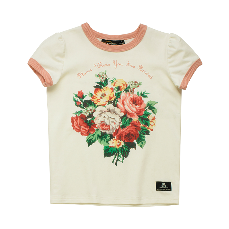 French Bloom SS Ringer T Shirt