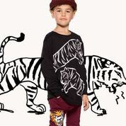 LS Tee Leaping Tiger - Black