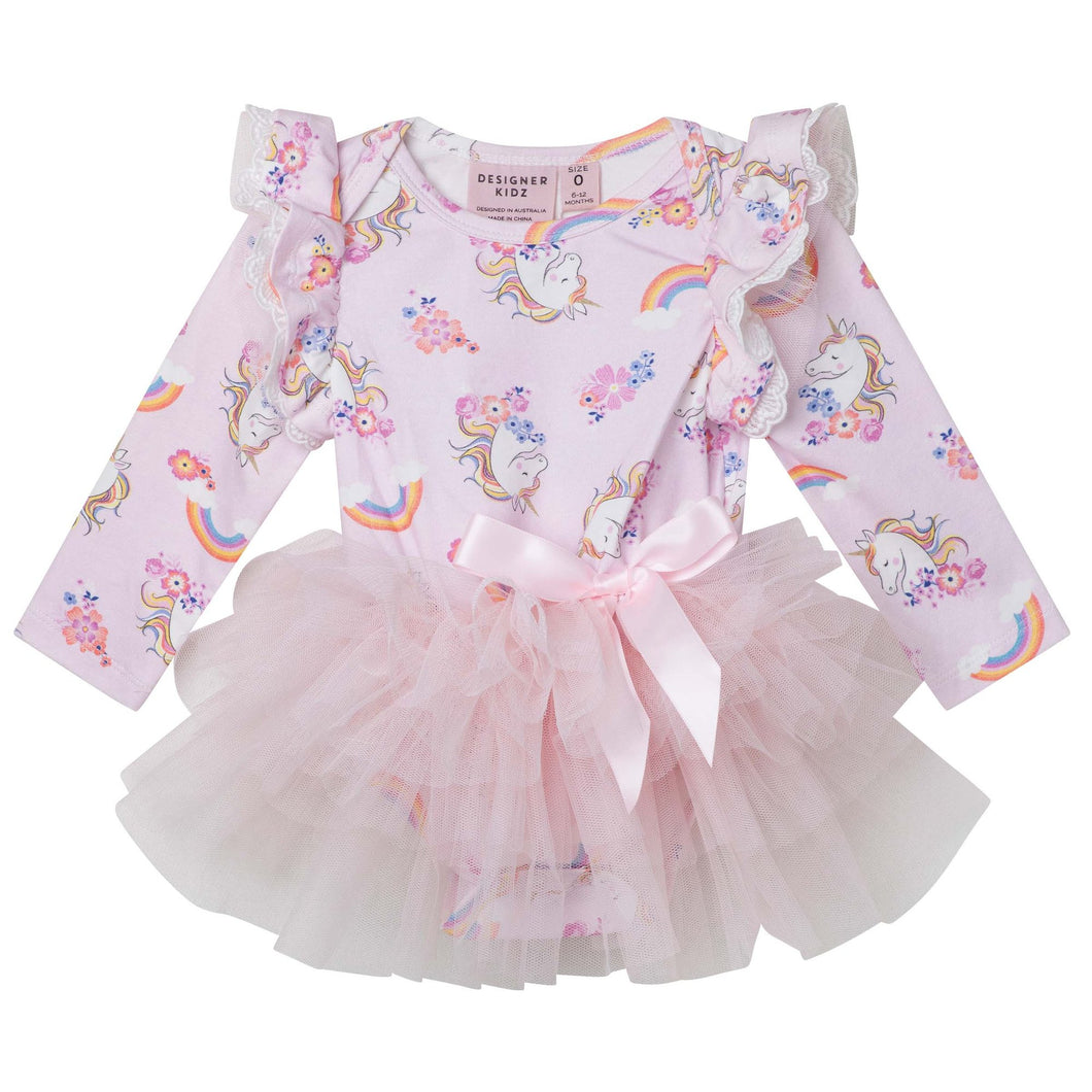 Enchanted Unicorn LS Petit Romper