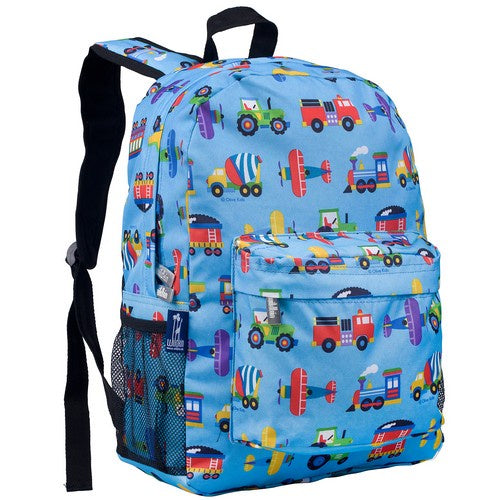 Planes, Trains and Trucks 16 Inch Backpack