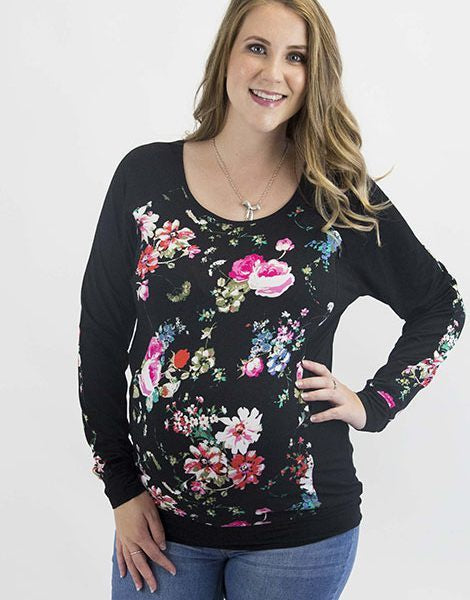 Evie Floral Breastfeeding Top