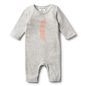 Strawberry Feather LS Grey Melange Growsuit