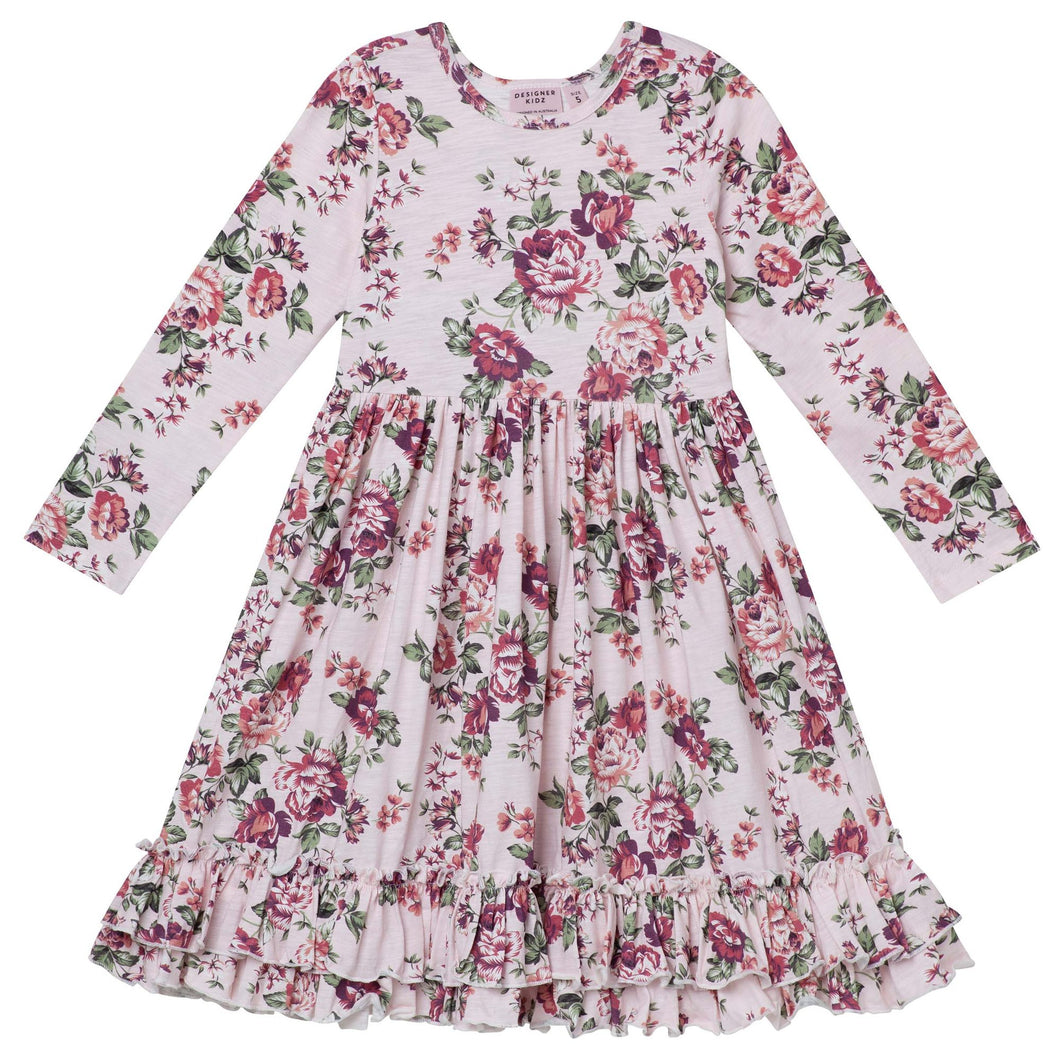 Pearl Floral Swing Dress