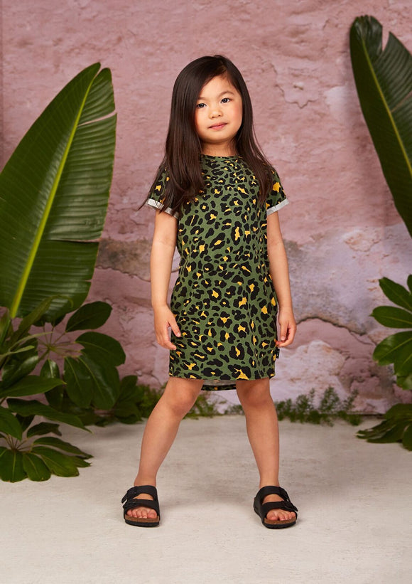 Hey Joe SS Dress Green