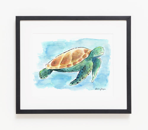 Walter The Turtle A4 Print