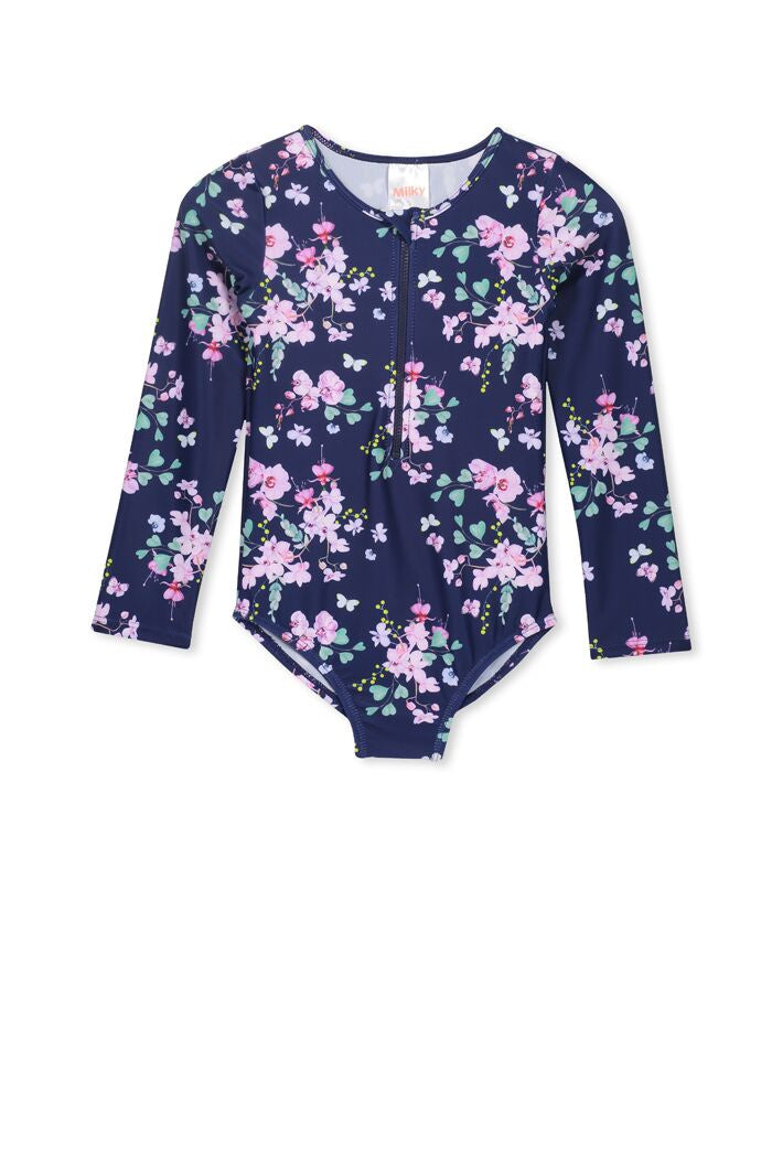 Floral LS Swimsuit