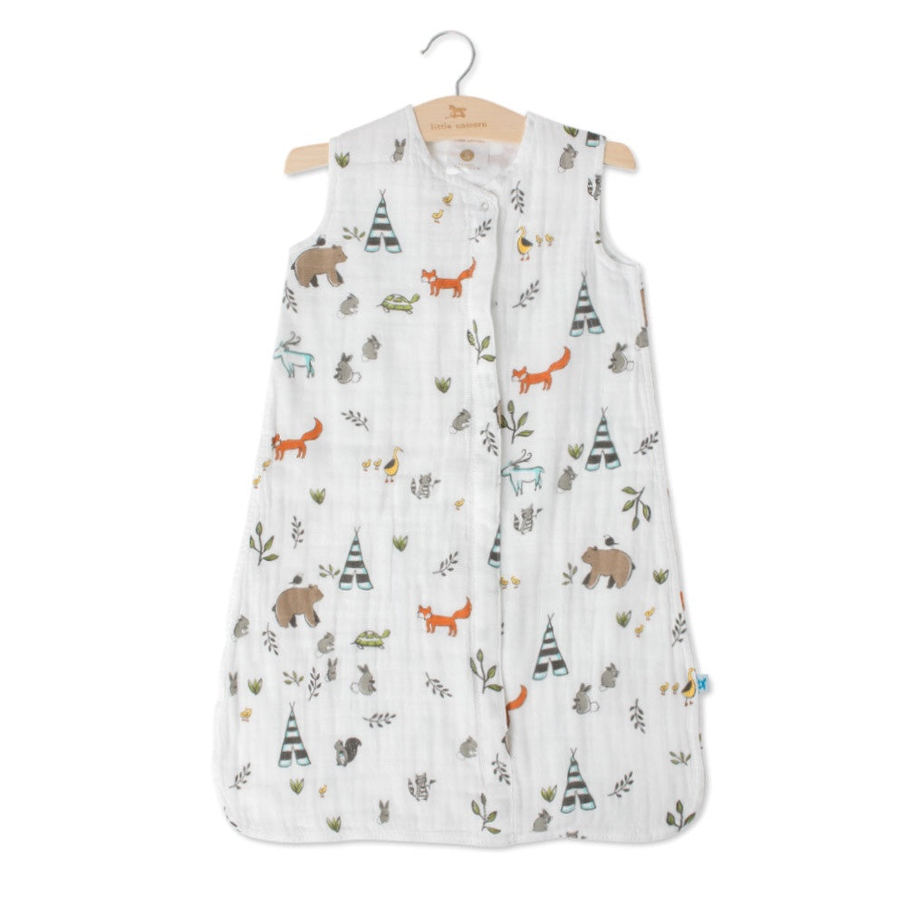 Cotton Muslin Sleeping Bag Forest Friends