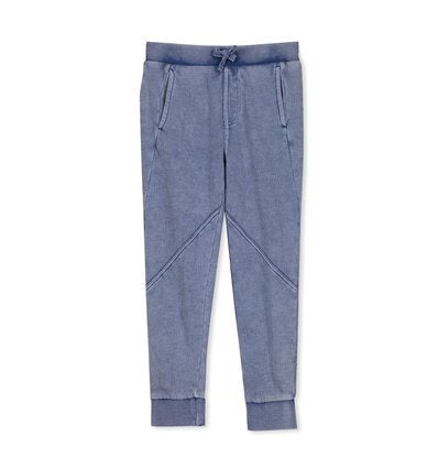 Blue Garment Dyed Trackpant