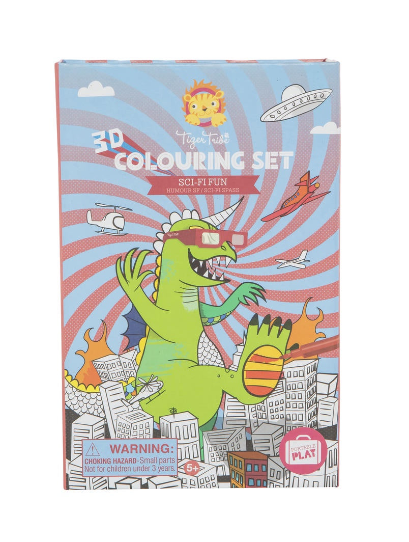 3D Colouring Set Sci Fi