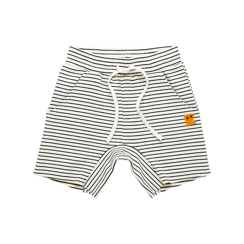 Cream / Black Stripe Shorts