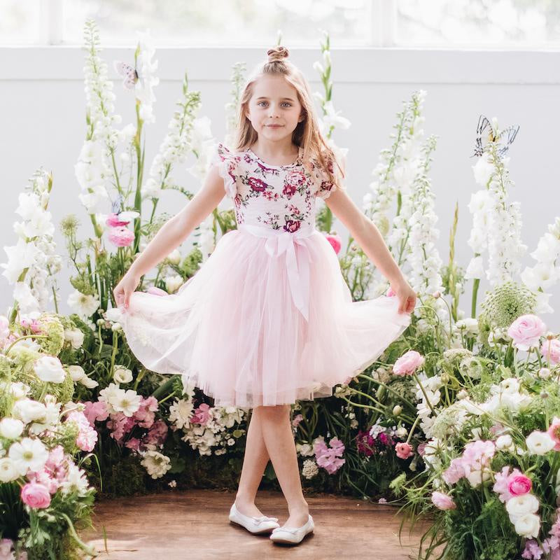 Pearl Floral SS Tutu Dress