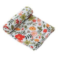 Cotton Muslin Swaddle Primrose Patch